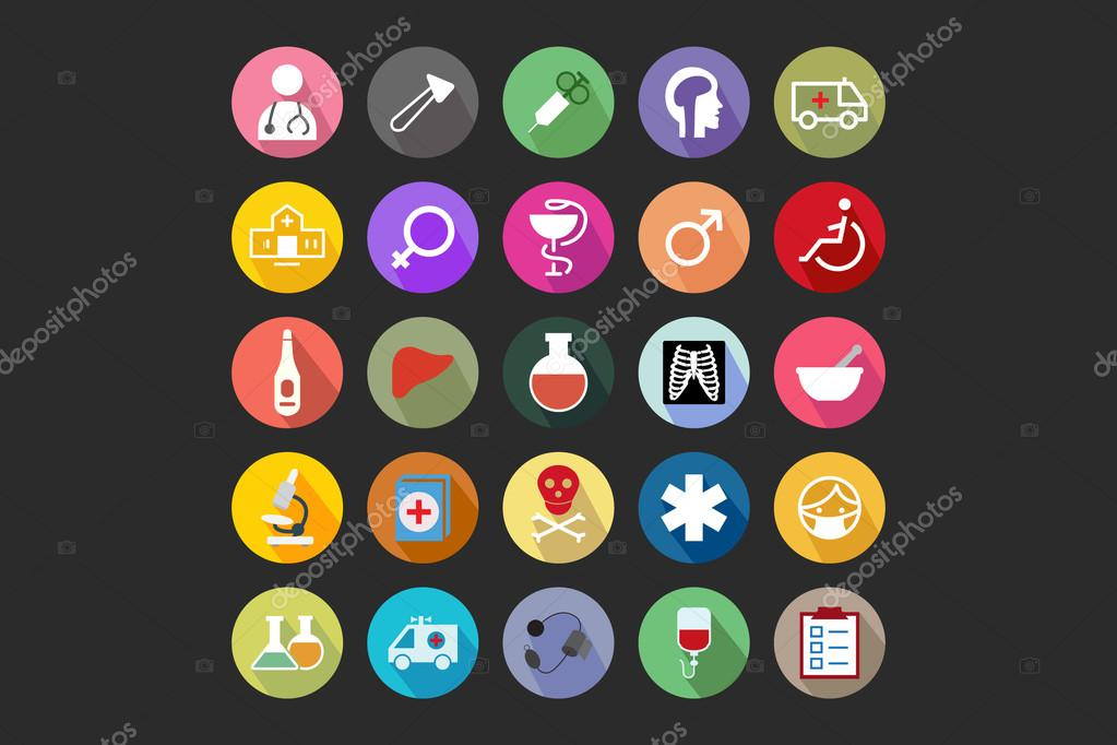 Medical Flat Colored Icons 2
