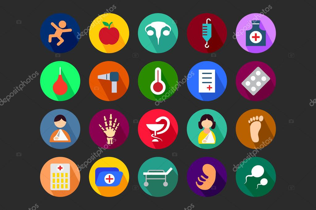 Medical Flat Colored Icons 5