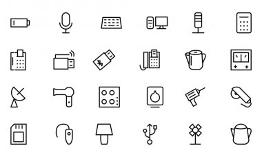 Electronics Vector Line Icons 3