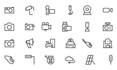 Electronics Vector Line Icons 5