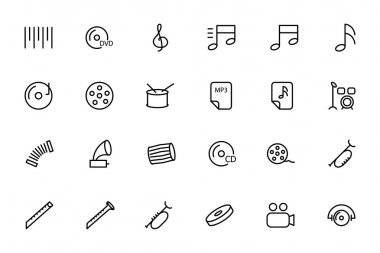 Music Vector Line Icons 2