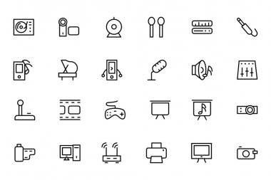 Music Vector Line Icons 4