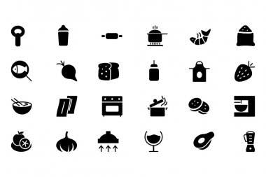Food Vector Solid Icons 8