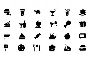 Food Vector Solid Icons 1