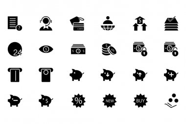 Finance Vector Solid Icons 10