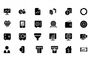 Finance Vector Solid Icons 3