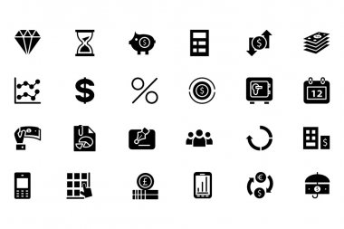 Finance Vector Solid Icons 7