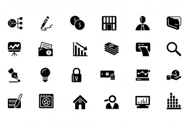 Finance Vector Solid Icons 6