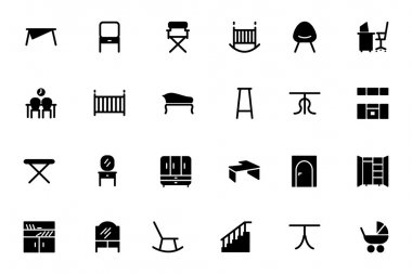 Furniture Vector Solid Icons 4