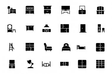 Furniture Vector Solid Icons 3