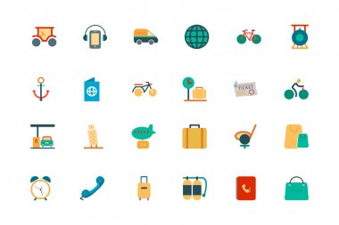 Travel Vector Colored Icons 5