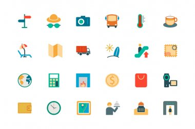 Travel Vector Colored Icons 3