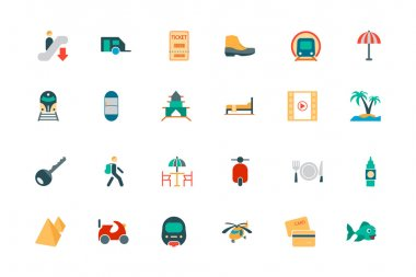 Travel Vector Colored Icons 4