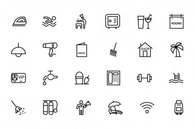 This Hotel and Restaurant vector icons pack is perfect for any designer or developer that is working on a new restaurant website, hotel, travel and tourism related project. icon