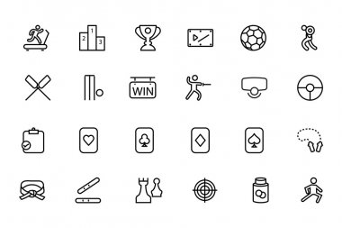 Sports Vector Line Icons 4