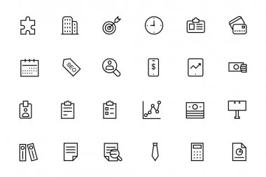 Business and Finance Vector Line Icons 2
