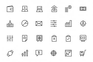 Business and Finance Vector Line Icons 3