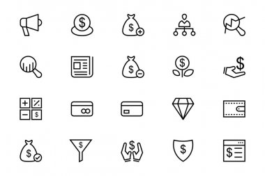 Business and Finance Vector Line Icons 7