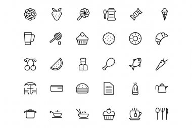 Food and drinks Line Icons 4