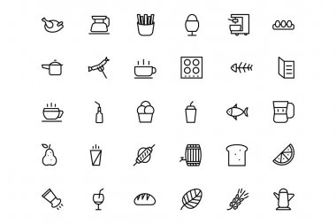 Food and drinks Line Icons 6
