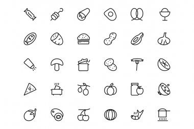Food and drinks Line Icons 15