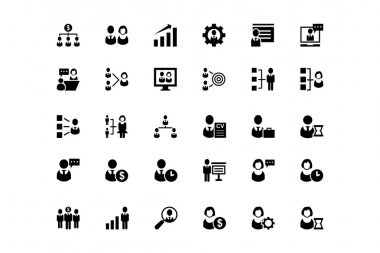 Human Resource Vector Icons 1