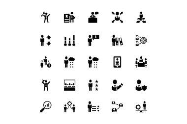 Human Resource Vector Icons 4