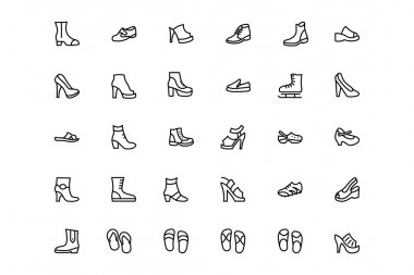 Shoes Vector Line Icons 2