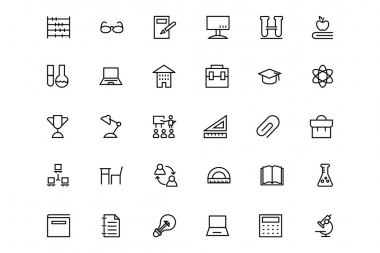 School and Education Vector Line Icons 5