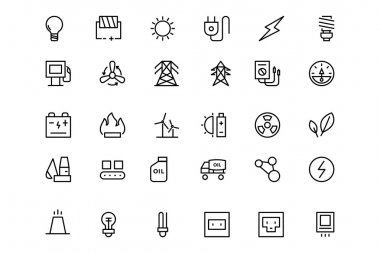 Energy Vector Line Icons 1