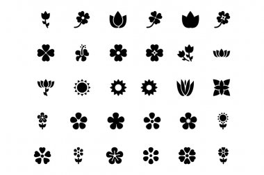 Flowers or Floral Vector Icons 5