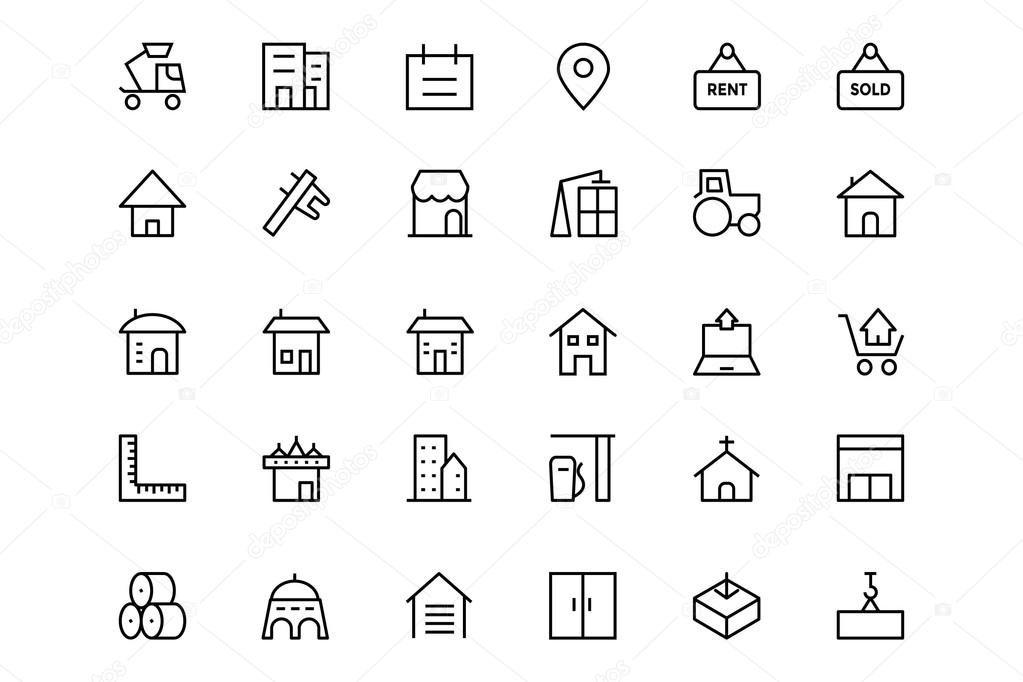 Construction Vector Line  Icons 3