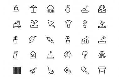 Gardening Line Vector Icons 3