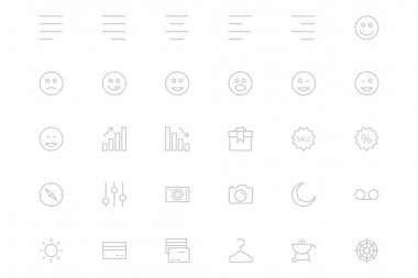 Universal Mobile Vector Line Icons 3