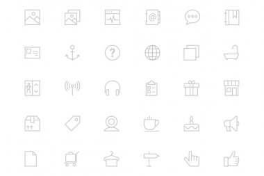 Universal Mobile Vector Line Icons 5