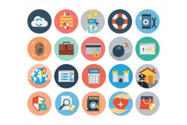 Security Flat Colored Icons 4