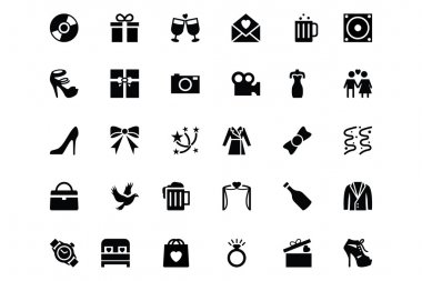 Wedding Vector Icons 2