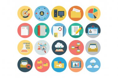 Universal Web Flat Colored Icons 3