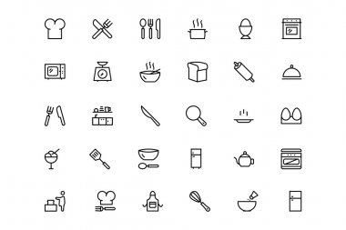 Kitchen Vector Line Icons 1