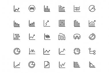 Business Charts Vector Line Icons 3