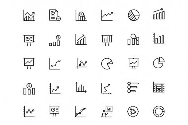 Business Charts Vector Line Icons 1