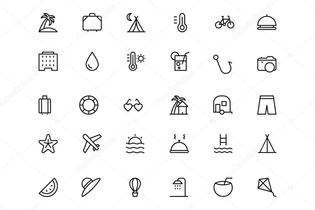 Holiday Vector Line Icons 1