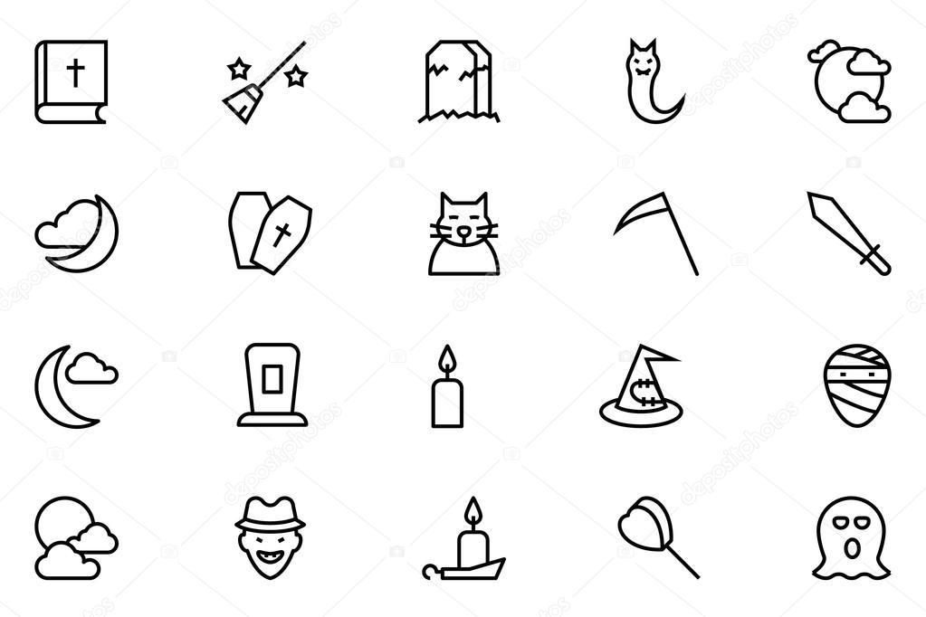 Halloween Vector Line Icons 5