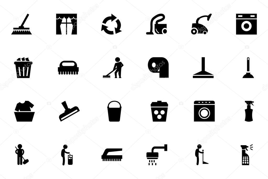 schoonmaak vector icons 1  u2014 stockvector  u00a9 creativestall