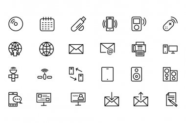 Communication Vector Line Icons 7