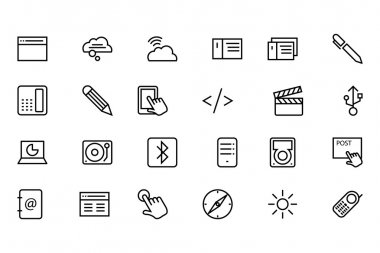 Communication Vector Line Icons 6