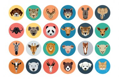 You don't need to take a trip to the zoo to enjoy amazing animals! With this Animals Vector Pack, you'll have all the awesome vectors you need right at your fingertips. stock vector
