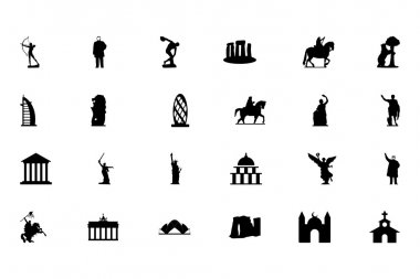 Check out this Monuments Vector Pack! All these icons represent well-known monuments from somewhere around the world. stock vector