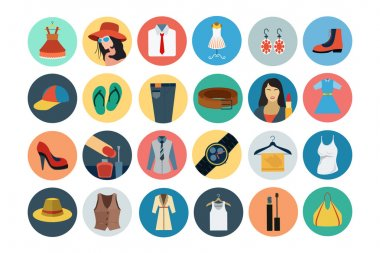 Fashion Flat Icons 1