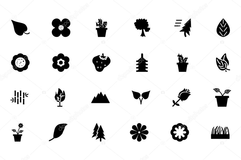 Nature Vector Icons 1